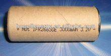 Factory outlets Lithium Battery 26650 3000mAh Rechargeable Low ESR