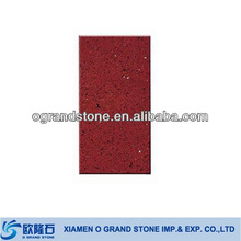 marble wall tiles artificial red coral quartz stone floor tile