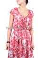 nueva llegada de moda de alta calidad de las señoras partido dressfloral vestido maxi vestido de ropa