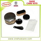 Hot selling high class leather shoe polish kit, shoe shine set,shoe care kit