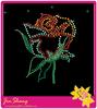 2014 new design flower hotfix rhinestone motif rhinestone rose transfer designs