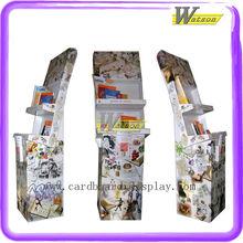 Promotion Tray Dump Bin Corrugated Paper Book Display Shelf