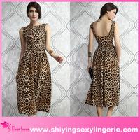 New Design Wholesale Fashionable Leopard women maxi dress