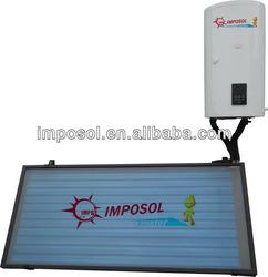 imposol split pressurized solar water heater flat plate