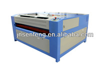 2 heads shoes leather fiber laser cutting machine best price auto feeding