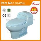South America S trap toilets in blue color