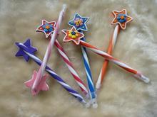 2014 wholesale cute novelty design pretty pentagram shape ball pen 05mm