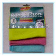 Microfiber towel, cloth; Silver Nylon Fabric