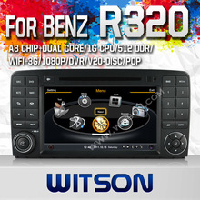 WITSON audio car system for MERCEDES-BENZ R320 WITH A8 CHIPSET 1080P V-20DISC WIFI 3G INTERNET DVR SUPPORT