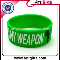 Cheap custom 1 inch silicone wristbands no minimum