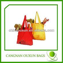 2014 high popular nylon 190t foldable shopping bags