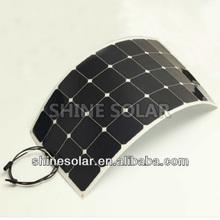 Special price waterproof semi flexible 75W 80W 18V module monocrystalline solar panel for 12V solar system charging