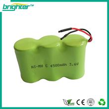 ningbo factory nimh c size 3.6v nimh battery
