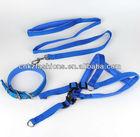 Pet Dog Nylon Full Body Adjustable with cushion Pet Harness +Collar+Leash set