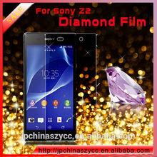 High anti-scratch diamond screen protector case for sony xperia z2
