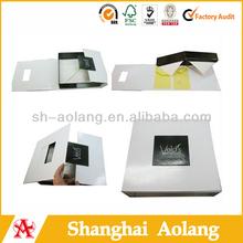 white paper box folding instruction