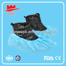 Semi elastic CPE disposable overshoe for cleamroom