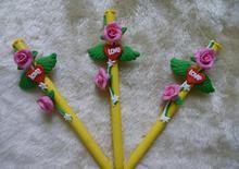 2014 wholesale cute novelty design pretty wings of love roses shape ball pen 0.5mm