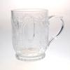 Chian manufacture glassware 10 oz coffee mugs glass juice glass mug embossed glass mug