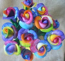 2014 wholesale cute novelty design pretty colorful roses shape ball pen 0.5mm