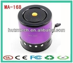 MA168 mini portable speaker Insert tf card U disk small acoustics subwoofer with Radio