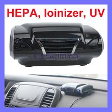 DC 12V 2 Watt 6 in One Car Ionizer UV Active Carbon HEPA Car Air Purifier