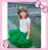 2014 Hot Sale Green Baby Girl Pettiskrit Baby Girl Fluffy Pettiskirt Kids Super Fluffy Pettiskirt Infant Solid Color Tutu Skirts
