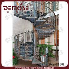 outdoor wrought iron spiral stair designs