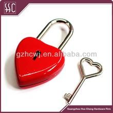 Guangzhou mini heart shape love padlock with keys