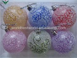 2014 good sale christmas ball chrome