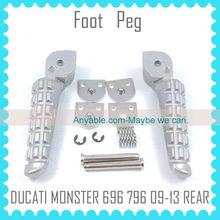 Aluminum Motorcycle Foot Peg For DUCATI 696 796 2009 2010 2011 2012 2013 REAR