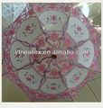 Bambu e laço rosa projeto guarda-chuva