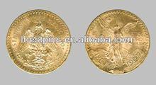 Mexico 50 souvenir replica coin, gold copy coin