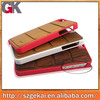wholesale wood+pc material phone cover for iphone,pc+wood phone case for samsung