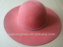 2014 newly design wool felt fedora hat with wide brim