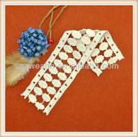 Hotsale women cotton embroidery flat lace trim 2014