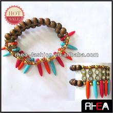 2015 Fashion handmade coloful rivet beaded Bracelet