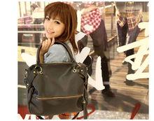 New Korean Women's leather handbag Leisure Synthetic Leather Tassel Shoulder Bag Large Capacity Handbag Black 18486
