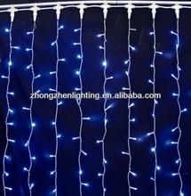 Blue Led Curtain Light With Flashing Effec