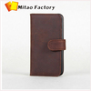 2014 Supper Deal Fashionable Mywalit Crazy Horse Leather Phone Case Pouch with 3 Card Slots Buckle Closure Wallet