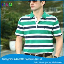 Fashion new design stripe MEN POLO