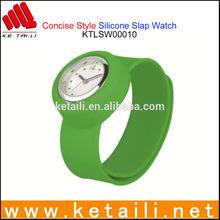 Slap Wristband Style Silicone Quartz Watch Manufacturer