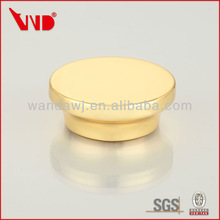 Imitation gold plated non spill zinc alloy metal wine cork caps