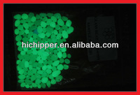 Blue green glow in the dark glowing glass beads for road marking
