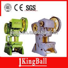 pressure supplier kingball J23 series open-type tilting cnc , press metallurgy machinery embossing machine,power press, punching