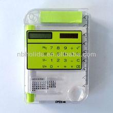 Calculator with sticky notes,calendar,pen,ruler/HLD818