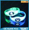 China printing logo gleamy plastic bracelets wholesale