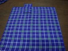 Grid Striped Polar fleece Blanket/ Soft Picnic Blanket