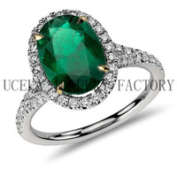 2014 Fashion Luxury Zircon wedding silver ring company