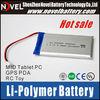 2014 China Best quality 3.7V 3000mAh Li-polymer rechargeable battery